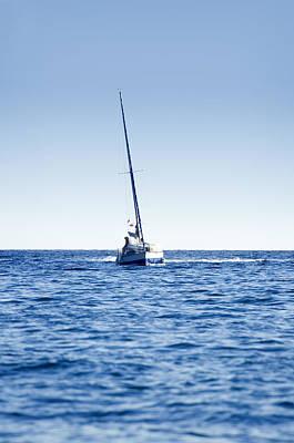 Sailboat Photograph - Sail Boat by Modern Art Prints