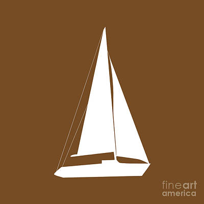 Photograph - Sailboat In Brown And White by Jackie Farnsworth