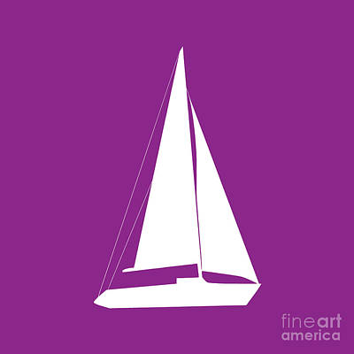 Photograph - Sailboat In Purple And White by Jackie Farnsworth