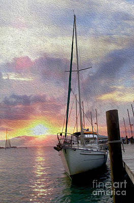 Boating Mixed Media - Sailboat by Jon Neidert