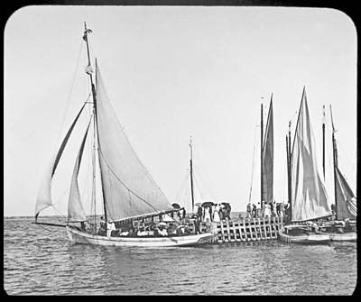 Personalized Name License Plates - Sailboats Atlantic City New Jersey 1902 by A Macarthur Gurmankin