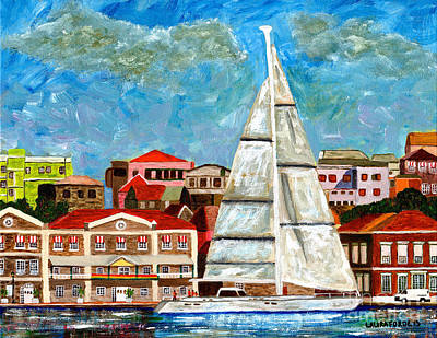 Sailing In Art Print