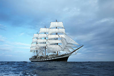 Water Vessels Photograph - Sailing Ship by Anonymous