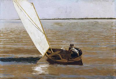 Sailing Eakins Painting - Sailing by Thomas Eakins