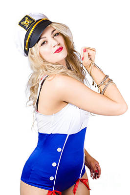 Equity Photograph - Sailor Fashion Model Wearing Expensive Jewelry  by Jorgo Photography - Wall Art Gallery