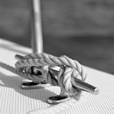 Minimalist Photograph - Sailor's Knot Square by Laura Fasulo
