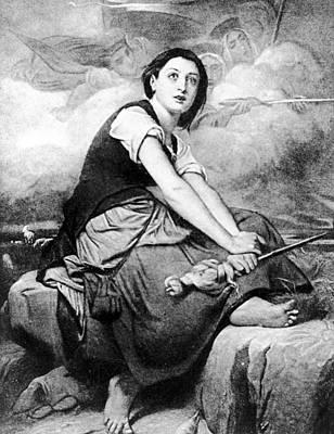 Spiritual Portrait Of Woman Drawing - Saint Joan Of Arc (1412-1431) by Granger