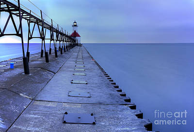 Joseph Photograph - Saint Joseph Lighthouse And Pier by Twenty Two North Photography