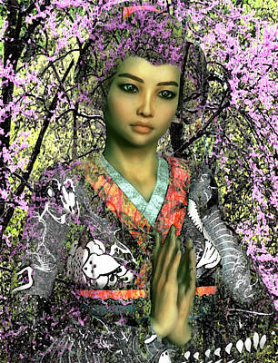 Saint Lucy Yi Zhenmei Of China Art Print