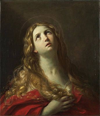 Mary Magdalene Reni Painting - Saint Mary Magdalene by Guido Reni