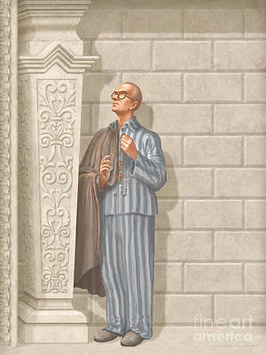 Communion Painting - Saint Maximilian Kolbe by John Alan  Warford