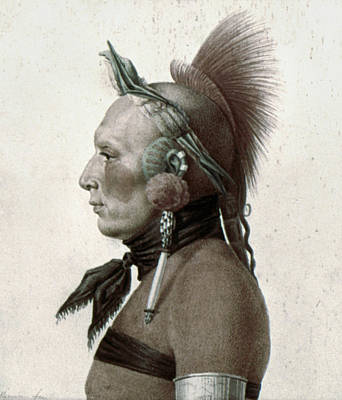 Mohawk Hairstyle Painting - Saint-memin Osage, 1804 by Granger