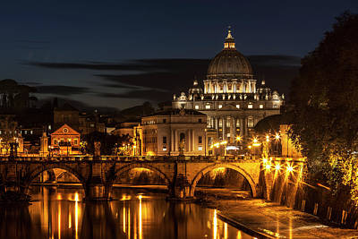 Saint Peters Basilica Photograph - Saint Peter S Basilica, The World S by Reynold Mainse