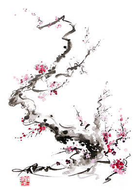 Sakura Spring Blossom. Art Print by Mariusz Szmerdt
