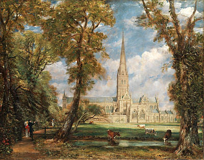 John Constable Painting - Salisbury Cathedral From The Bishop's Grounds by John Constable