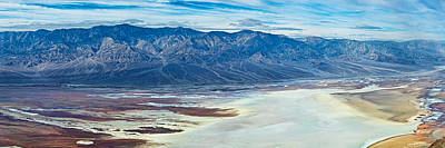 Salt Flat Images Photograph - Salt Flats Viewed From Dantes View by Panoramic Images