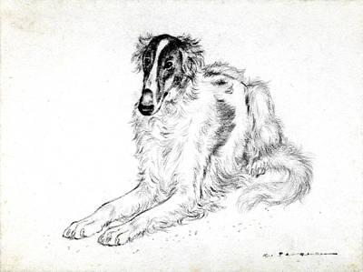 Saluki Art Print by Kurt Tessmann
