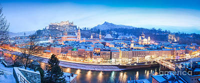 Cityscape Photograph - Salzburg Panorama In Winter by JR Photography