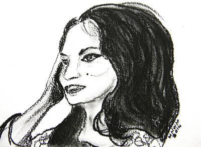 Lebanon Art Drawing - Samira Tawfik by Marwan George Khoury