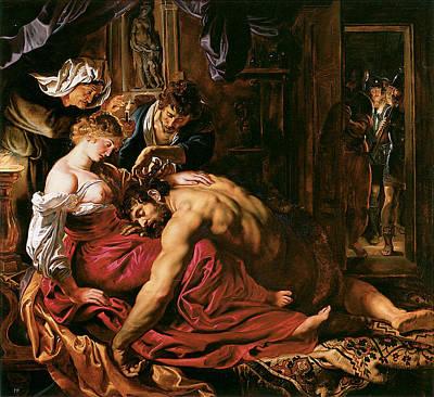 Samson And Delilah Print by Peter Paul Rubens