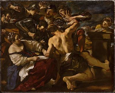 Giovanni Francesco Barbieri Painting - Samson Captured By The Philistines by Guercino