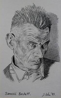 Greetings Card Drawing - Samuel Beckett by John  Nolan