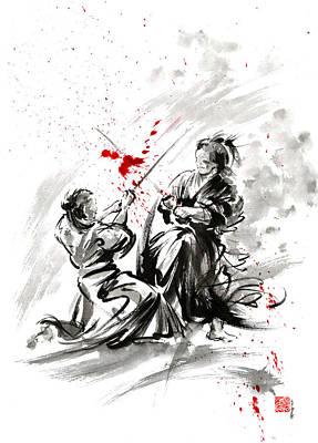 Samurai Bushido Code Art Print by Mariusz Szmerdt
