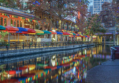 Robert Bellomy Royalty-Free and Rights-Managed Images - San Antonio Riverwalk by Robert Bellomy
