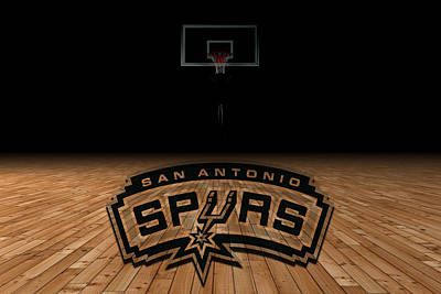 San Antonio Spurs Art Print by Joe Hamilton
