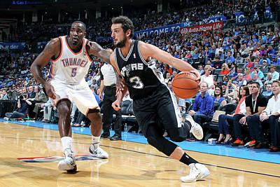 Photograph - San Antonio Spurs V Oklahoma City by Layne Murdoch Jr.