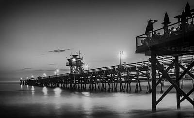 San Clemente Pier At Sunset Art Print by Pixabay