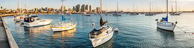 Panoramic Of San Diego Photograph - San Diego Bay Sunset Series by Josh Whalen