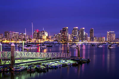 Harbor Dock Photograph - San Diego Harbor by Joseph S Giacalone