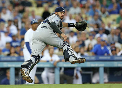 Photograph - San Diego Padres V Los Angeles Dodgers by Stephen Dunn