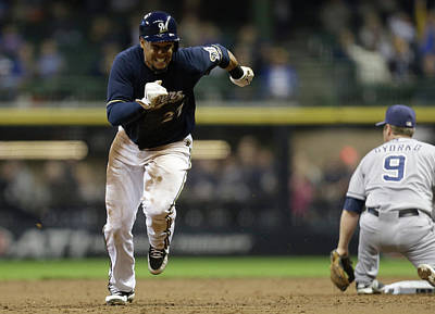 Photograph - San Diego Padres V Milwaukee Brewers by Mike Mcginnis
