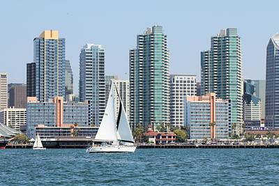 Photograph - San Diego Skyline by Jane Girardot