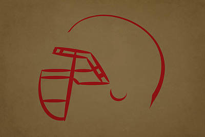 San Francisco 49ers Helmet Art Print by Joe Hamilton