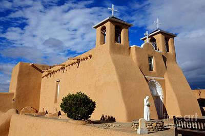 San Francisco De Asis Taos New Mexico 3 Art Print by Bob Christopher