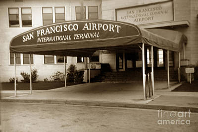 Photograph - San Francisco International Airport Passenger Terminal Circa 1955 by California Views Archives Mr Pat Hathaway Archives