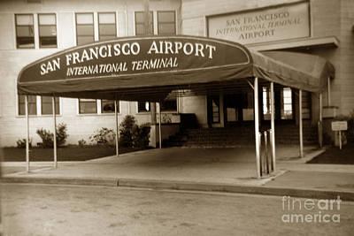 Photograph - San Francisco International Airport Passenger Terminal Circa 195 by California Views Mr Pat Hathaway Archives