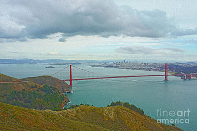 San Francisco Art Print by Nur Roy