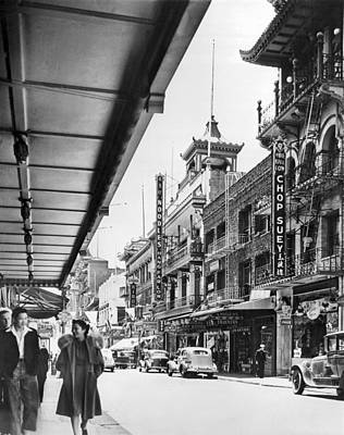 Talking Photograph - San Francisco's Chinatown by Underwood Archives