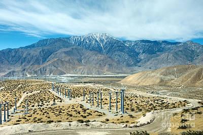 Photograph - San Gorgonio Pass Palm Springs Wind Turbines by David Zanzinger