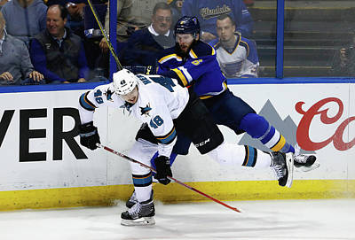 Photograph - San Jose Sharks V St Louis Blues - Game by Jamie Squire