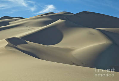 Photograph - Sand Dunes In Death Valley by Yva Momatiuk John Eastcott