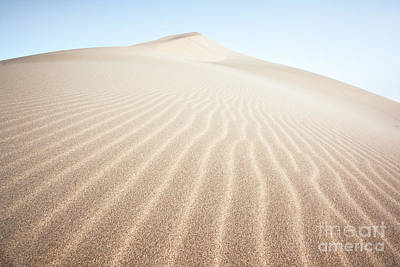 Desert Photograph - Sand Dunes In The Desert At Sunrise Dunhuang China by Matteo Colombo