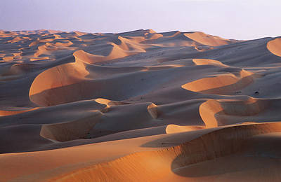 Empty Quarter Photograph - Sand Dunes In The Rub Al-khali, United by Martin Zwick