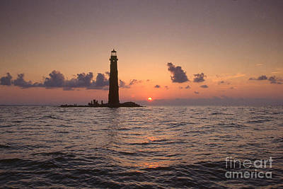 Mobile Bay Photograph - Sand Island Lighthouse, Al by Bruce Roberts