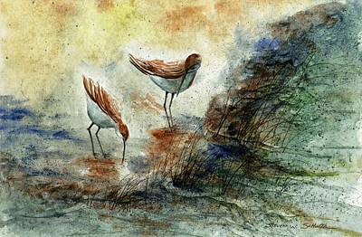 Award Winning Painting - Sand Pipers by Steven Schultz