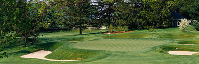 Baltimore Photograph - Sand Traps On A Golf Course, Baltimore by Panoramic Images
